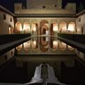 Photos: グラナダ:アランブラ宮殿天人花の中庭(南から)(夜景)