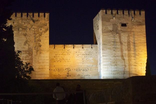 Photos: グラナダ:アランブラ宮殿・アルカサバ(夜景)(スペイン)