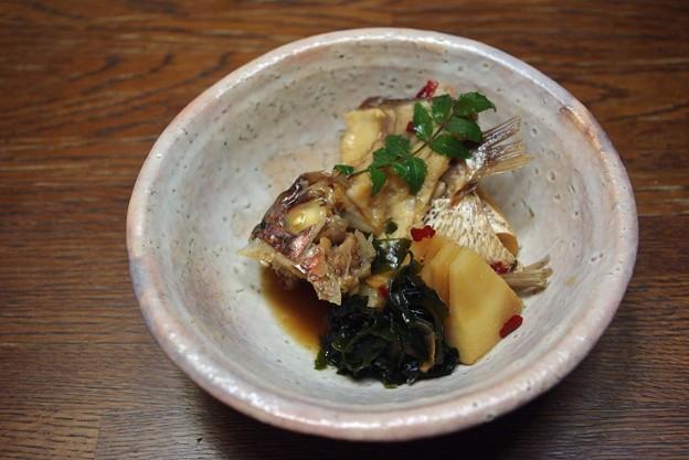 IMGP8949自作、瀬戸内海産、鯛のアラ炊き