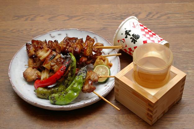 IMGP9587呉市、千福精撰Vパック赤と焼き鳥地野菜焼