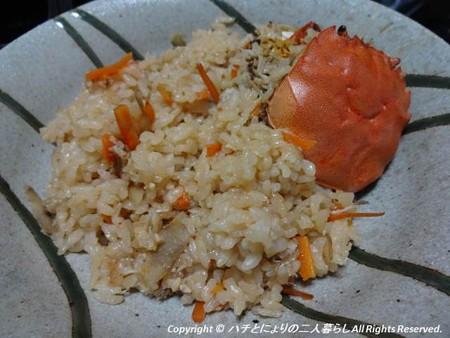2012-10-19モクズガニ炊き込みご飯2