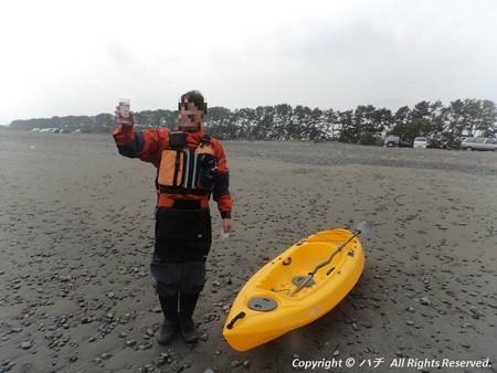 2014-03-01進水式&カヤックサーフィン (2)
