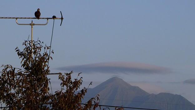 霧島山と傘雲