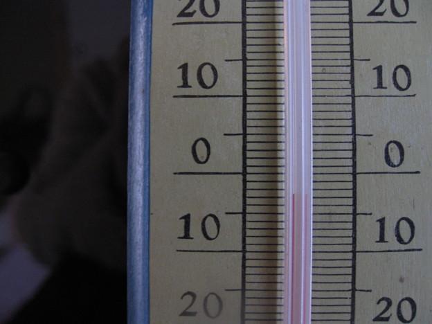 室温が零下