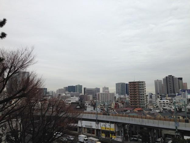 品川神社富士塚――より北東。