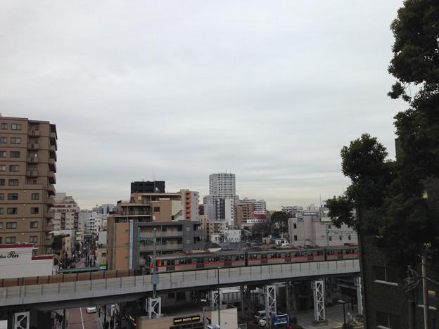 品川神社富士塚――より南東。