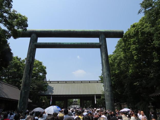 第二鳥居から見える拝殿