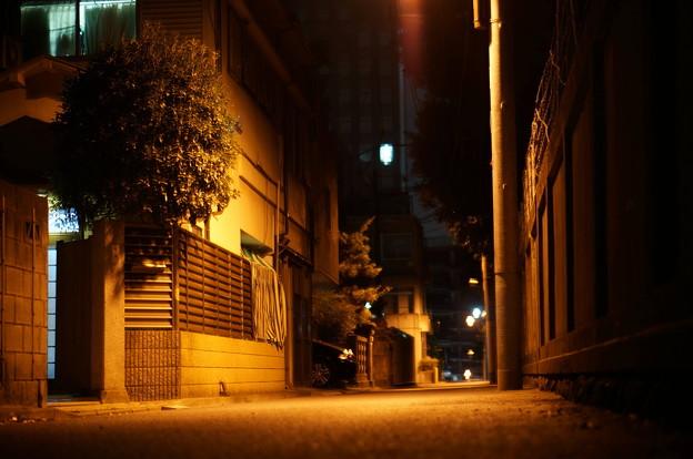 寝静まる道