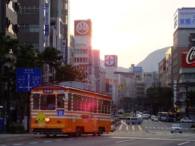 こそ~り大甲橋に居りますψ(`∇´)ψ_#kumamoto_#japan_#tram_#mmtrainm_#33fan