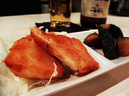 ツナ・ポテ春巻き焼き & オイキムチ