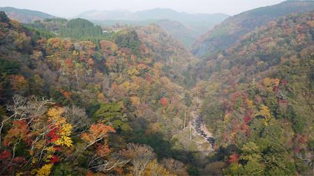 九重夢大吊り橋からの紅葉(2)