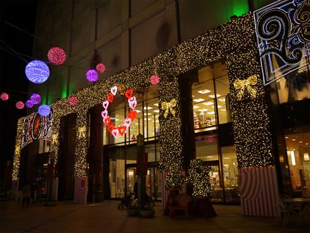 小倉井筒屋のクリスマスイルミ2013(2)