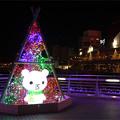 写真: 小倉・紫川のクリスマスイルミ2013(3)