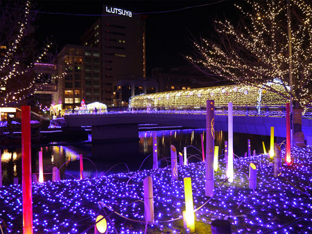 小倉・紫川のクリスマスイルミ2013(1)