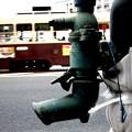 写真: ~ポンプと路面電車~