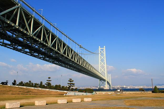 道の駅あわじからみる明石海峡大橋1