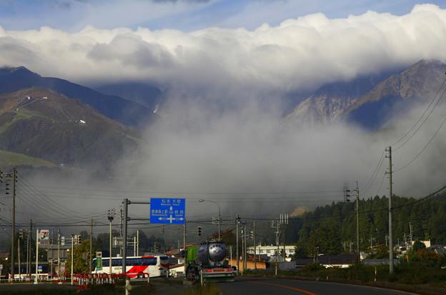 松本・大町への国道