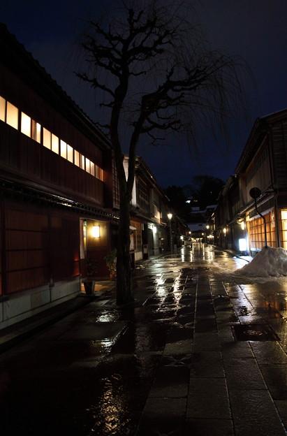 夜の金沢ひがし茶屋街(1)