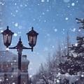 雪降る街(加工)