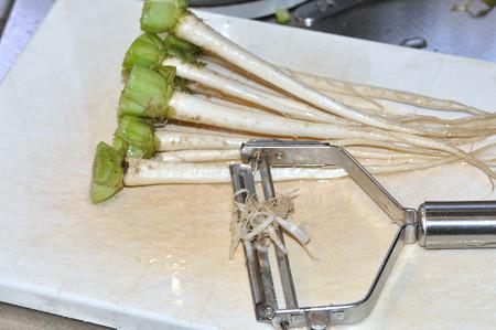 小松菜の根