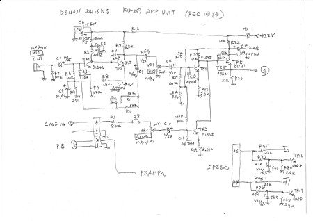 DENON DH-610S REC回路図1
