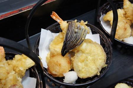海老、帆立、お魚、お野菜2点