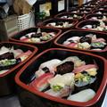 お寿司がどこまでも並ぶ眺め