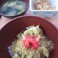 Photos: 親子丼&マヨポテト