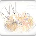 ?くるりんムーンライトのペンダント!! オブシディアンオパール 人工石(ガラス)ファイアポリッシュビーズ 手作り ハンドメイド ワイヤーワーク(ワイヤーアート)月の首飾り6