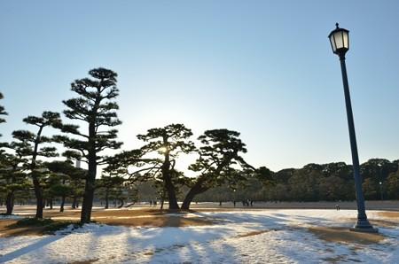 残雪の皇居