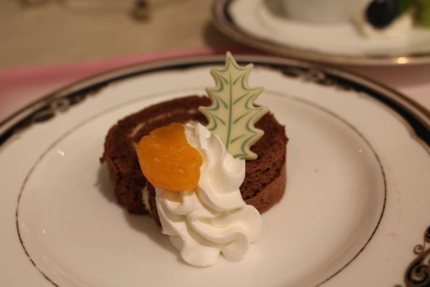 チョコケーキのデザート