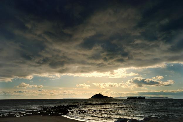 冬の伊良湖岬