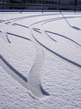 新雪一番乗り