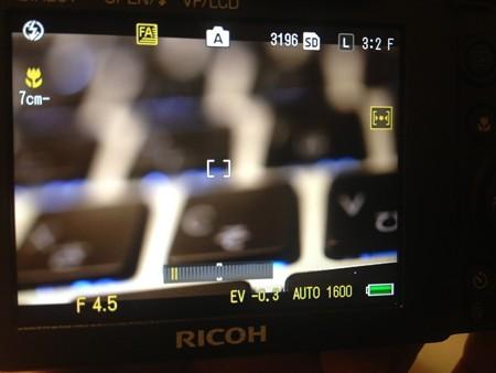 GXR 最短撮影距離表示