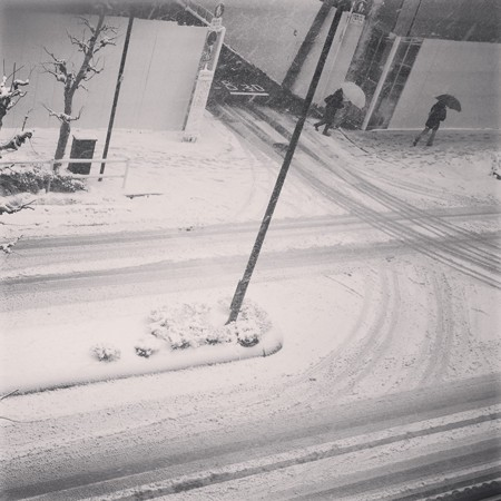 大雪の予感