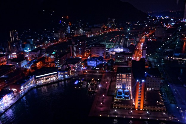 門司港の夜の町並み・・・HDR