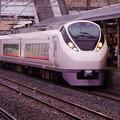 石岡駅にて到着したフレッシュひたちE657
