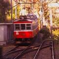 写真: 箱根登山鉄道の名物スイッチバックすれ違い待ち。。。20131118