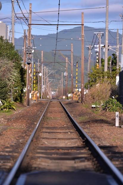どこまで続くのか大井川鉄道の線路・・20131123