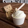 写真: ジャージー牛乳のミルクジェラート(道の駅・むいかいち温泉【島根】)