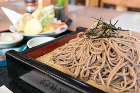 天ざる十割蕎麦(道の駅・農匠の郷やくの【京都】)