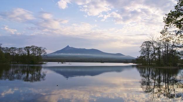 早朝の大沼