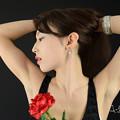 Photos: 加奈恵黒バック横顔アップ2L