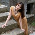 写真: 岡田智子ロング階段2L