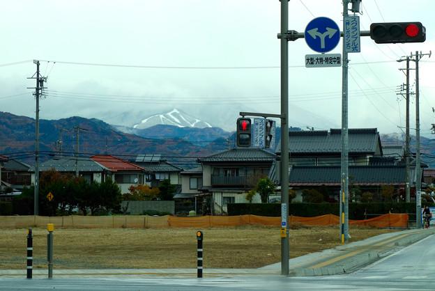 冠雪した飯綱山