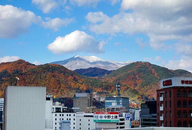長野市内から望む飯綱山