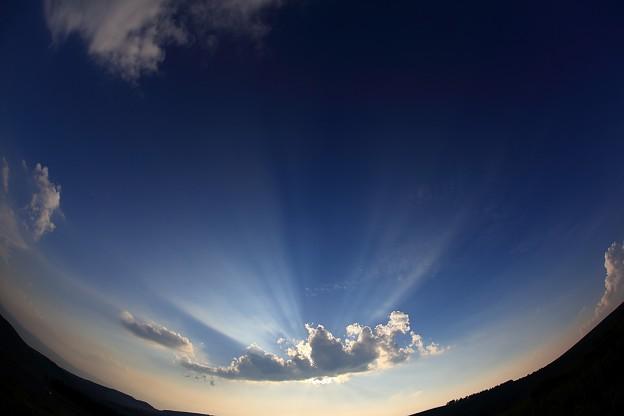写真: 光芒 ~車山高原~