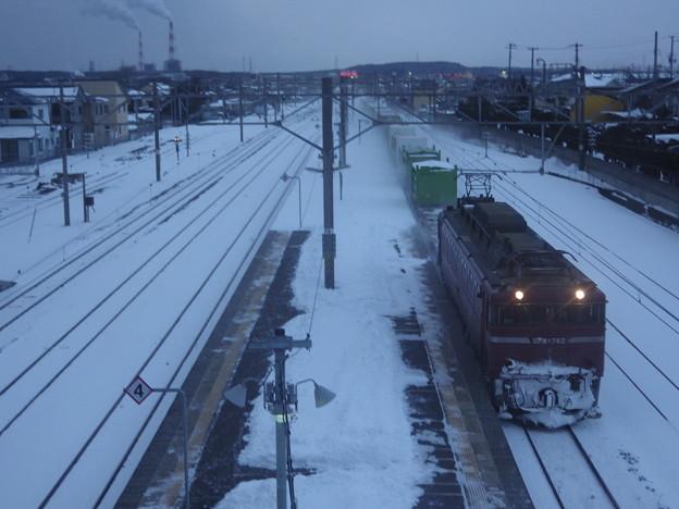 『窓越し』EF81‐742牽引 1658レ