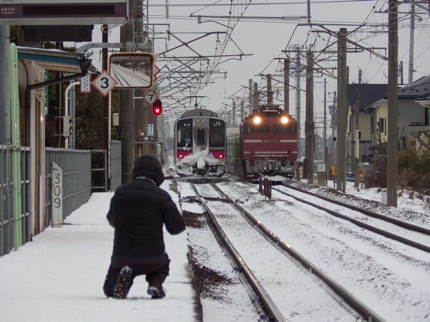 701系青森行き&EF81-725牽引 1658レ