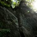 途中の岩場